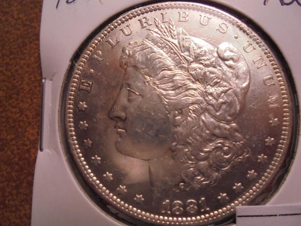 1881-O MORGAN SILVER DOLLAR UNC