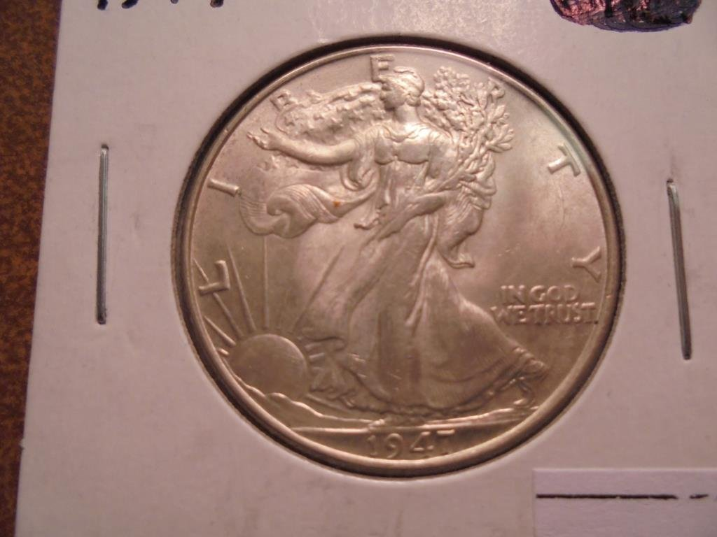 1947 WALKING LIBERTY HALF DOLLAR UNC