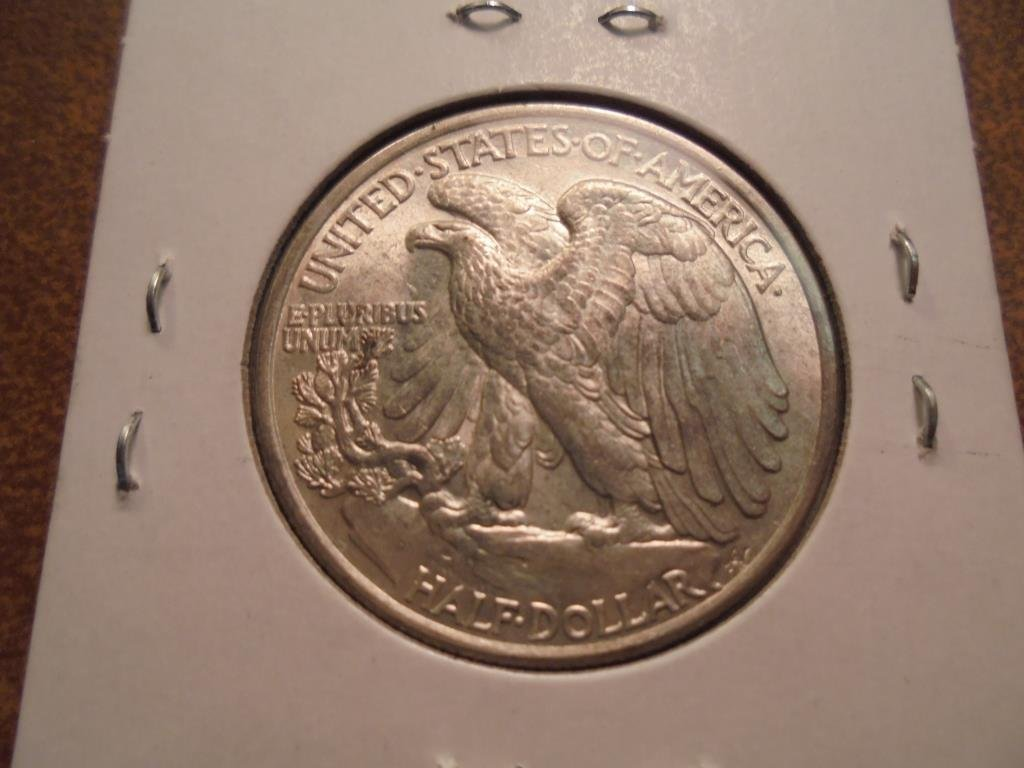 1947 WALKING LIBERTY HALF DOLLAR UNC - 2