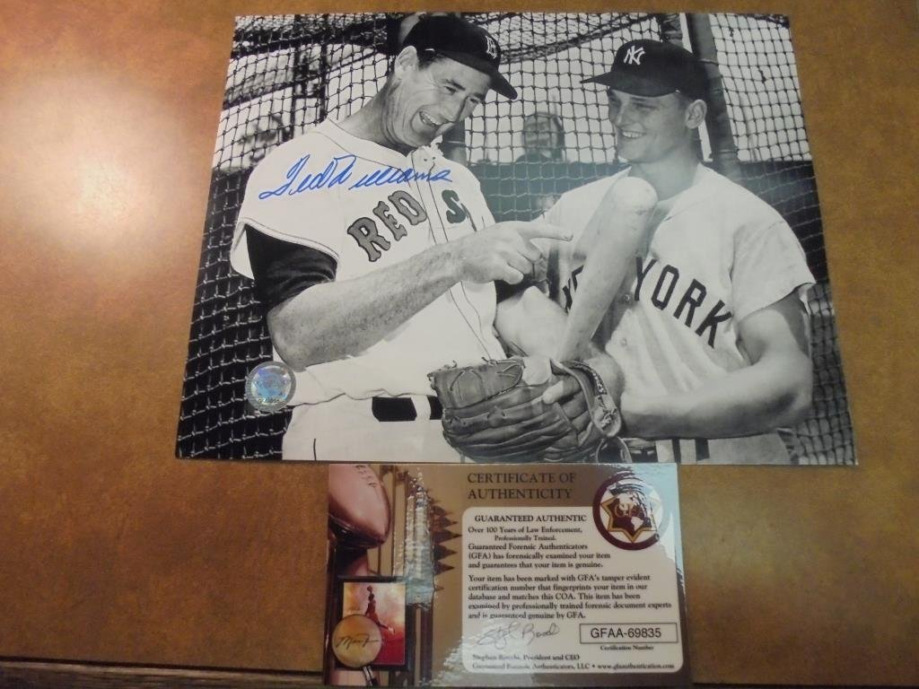 8X10 AUTOGRAPHED PICTURE OF TED WILLIAMS WITH