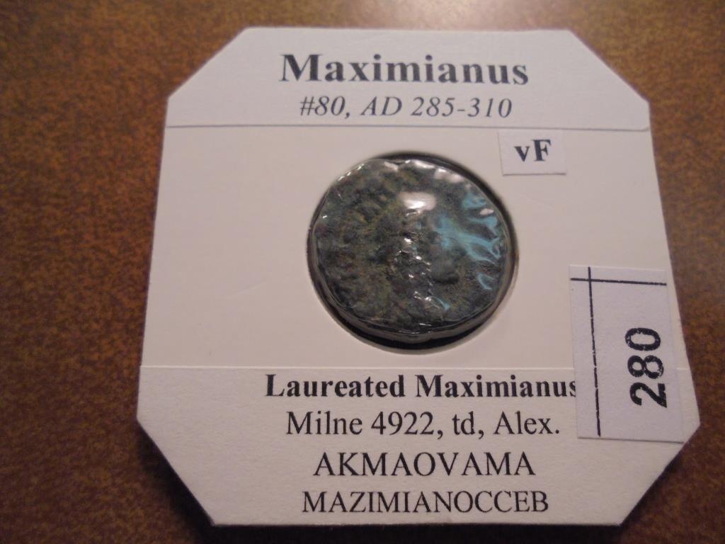 285-310 A.D. MAXIMIANUS ANCIENT COIN VERY FINE