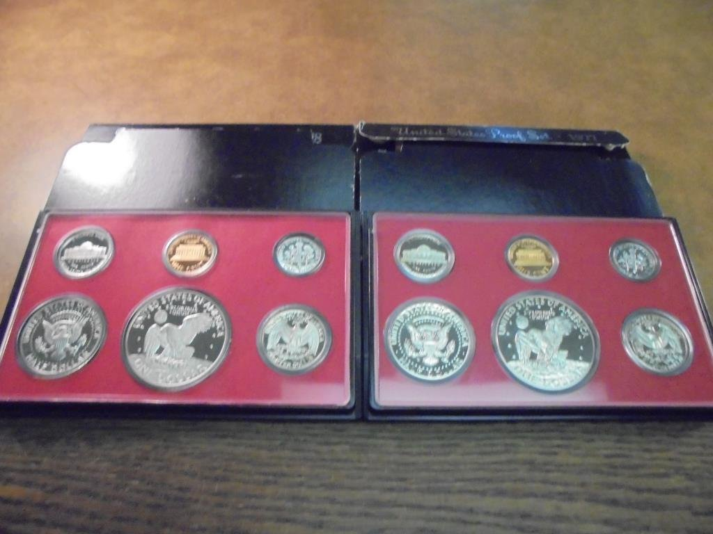 1977 & 1978 US PROOF SETS (WITH BOXES) - 2