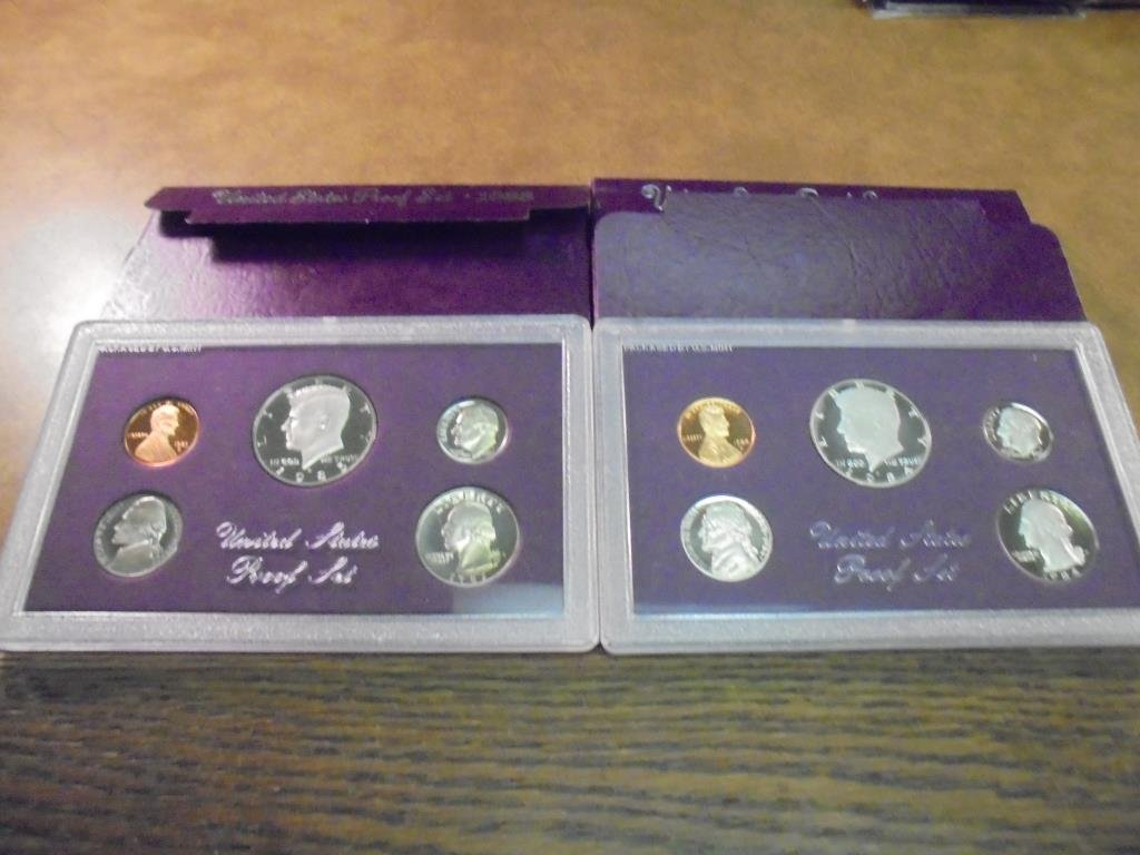 1984 & 1985 US PROOF SETS (WITH BOXES) - 2