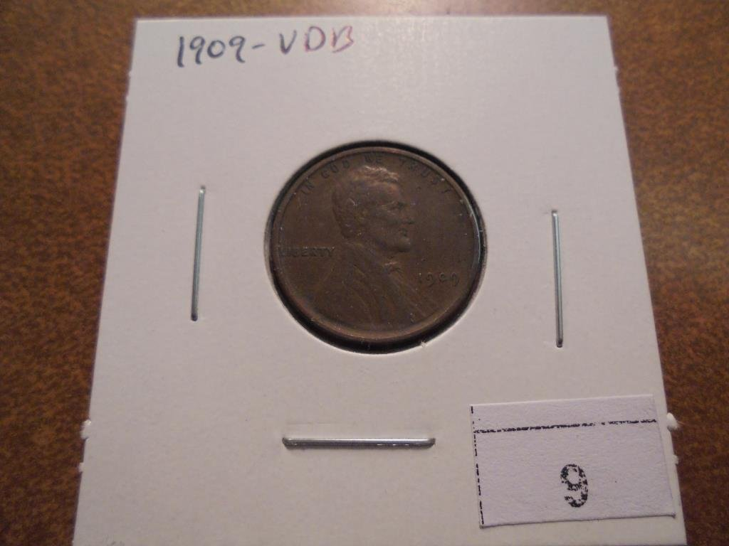1909 VDB LINCOLN CENT VERY FINE+