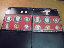 1977  1978 US PROOF SETS WITH BOXES