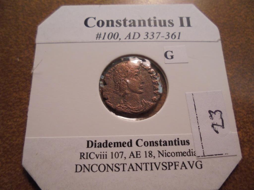 337-361 A.D. CONTANTIUS II ANCIENT COIN