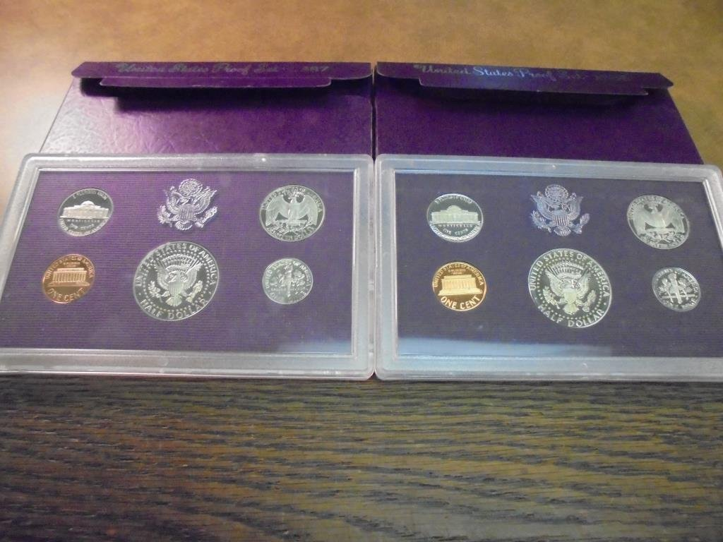 1986 & 1987 US PROOF SETS (WITH BOXES) - 2