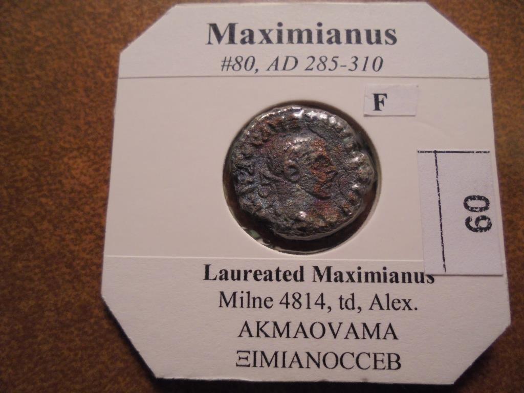 285-310 A.D. MAXIMIANUS ANCIENT COIN (FINE)