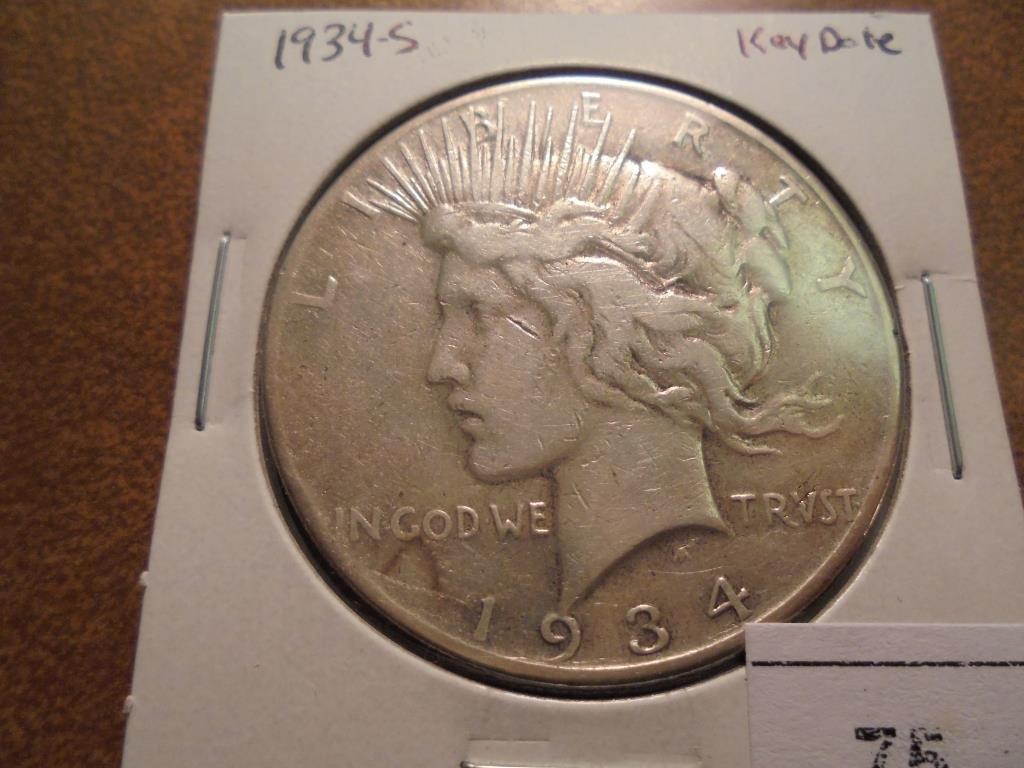 1934-S PEACE SILVER DOLLAR KEY DATE