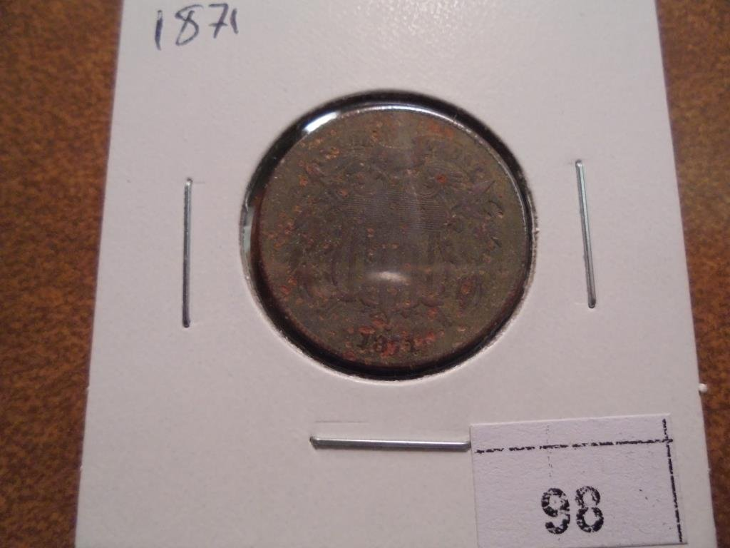 1871  US TWO CENT PIECE