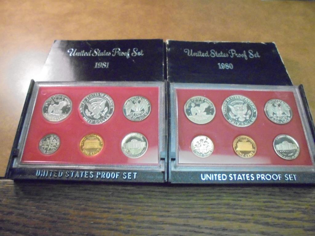 1980 & 1981 US PROOF SETS (WITH BOXES) - 2