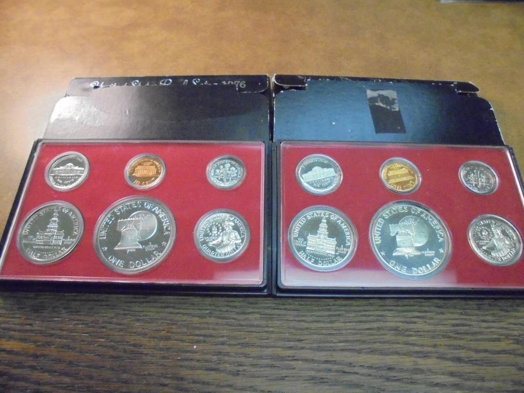 1975 & 1976 US PROOF SETS (WITH BOXES) - 2