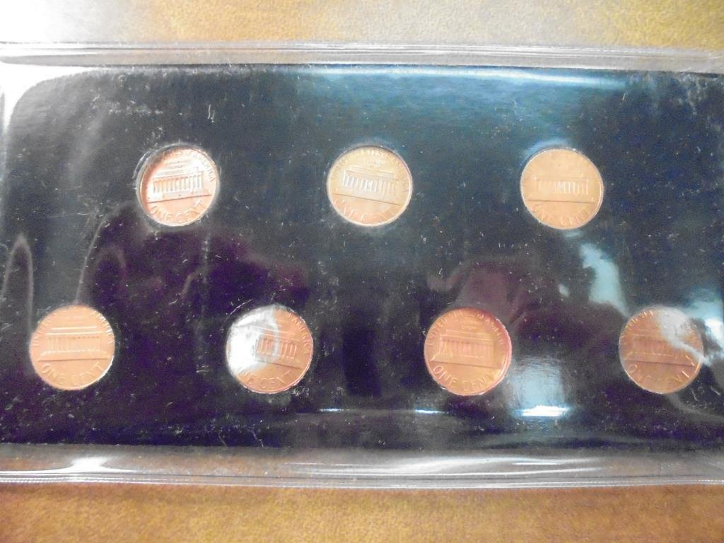 1982-7 VARIETIES LINCOLN CENT SET (UNC) - 2
