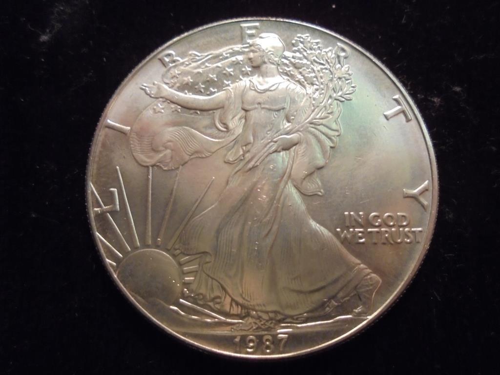 1987 AMERICAN SILVER EAGLE UNC