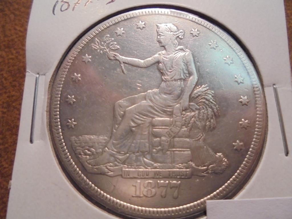 1877-S US TRADE DOLLAR