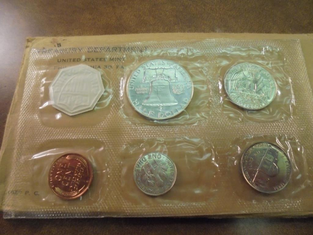 1957 US SILVER PROOF SET (WITH ENVELOPE) - 2