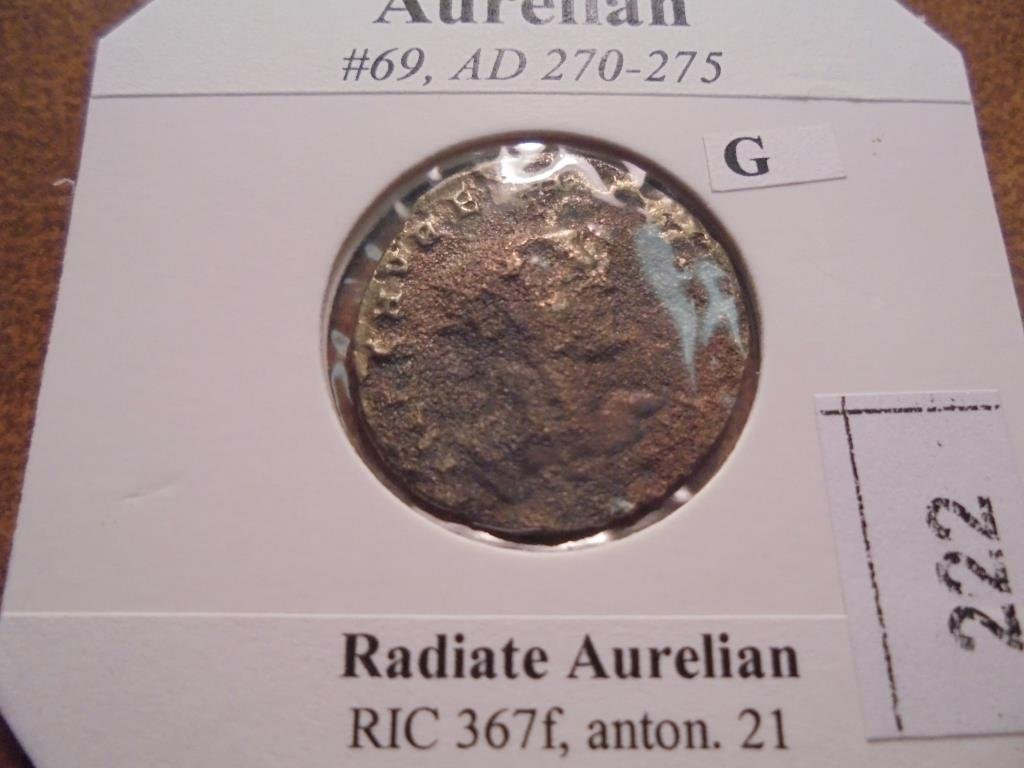 270-275 A.D. AURELIAN ANCIENT COIN