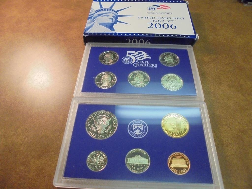 2006 US PROOF SET (WITH BOX) - 2