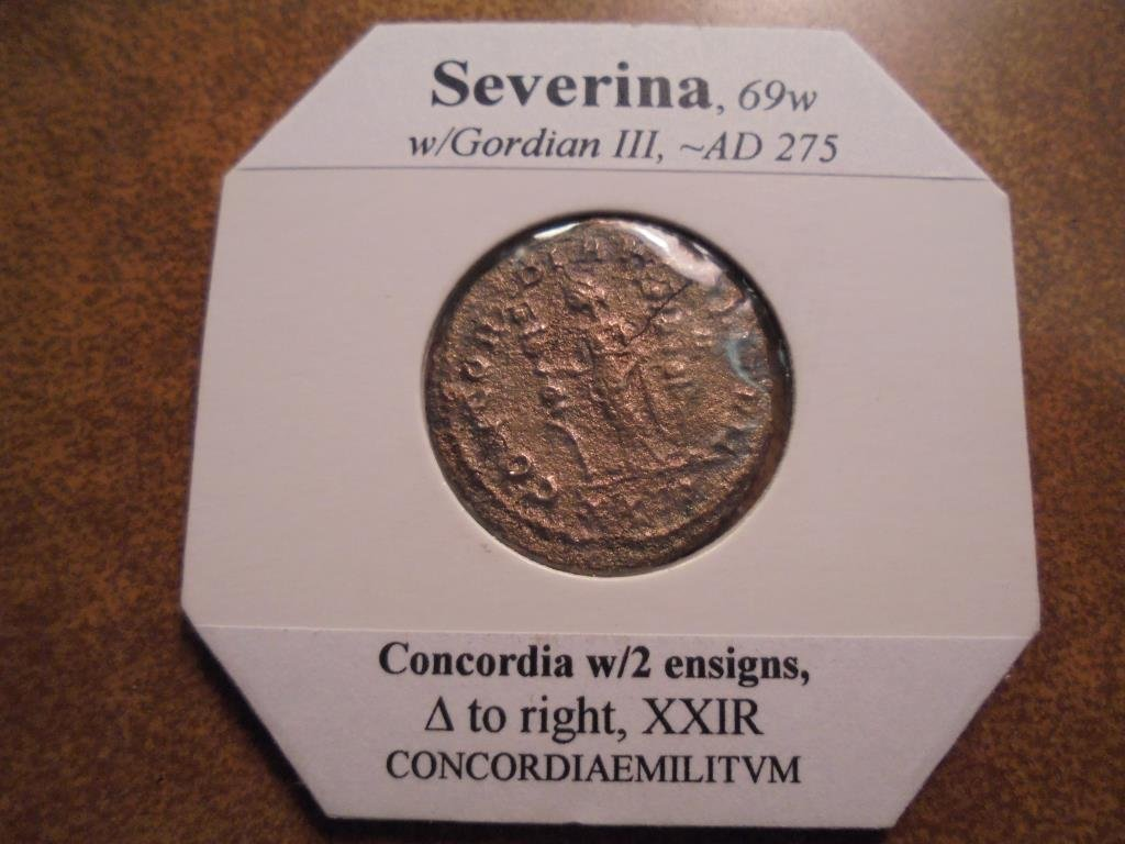 SILVER BILLON 275 A.D. SEVERINA ANCIENT COIN - 2
