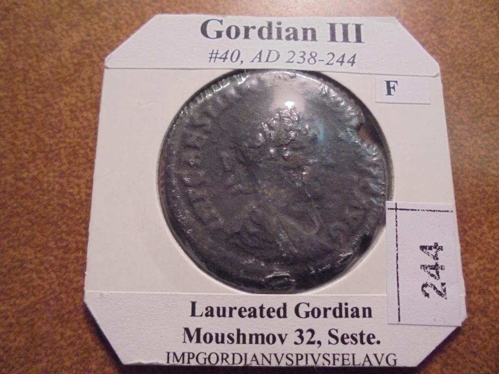 238-244 A.D. GORDIAN III ANCIENT COIN (FINE)