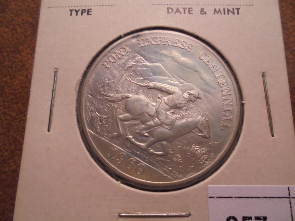 1960 PONY EXPRESS CENTENNIAL STERLING SILVER
