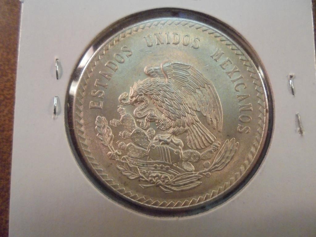 1948 MEXICO SILVER 5 PESOS .8680 OZ. ASW UNC - 2