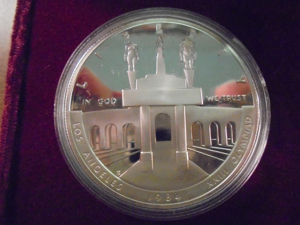 1984-S US OLYMPIC PF SILVER DOLLAR