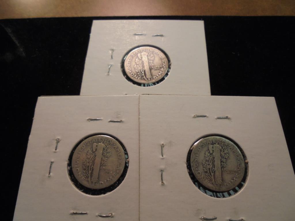 1923,26 & 36 MERCURY DIMES - 2