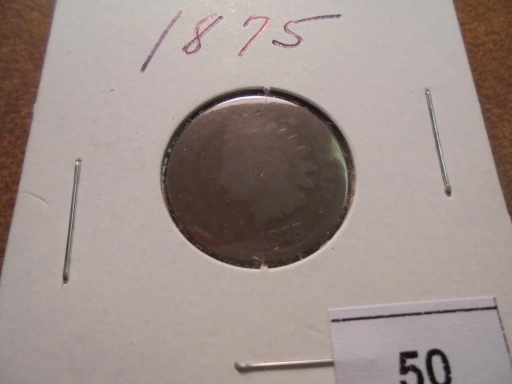 1875 INDIAN HEAD CENT (SEMI-KEY)
