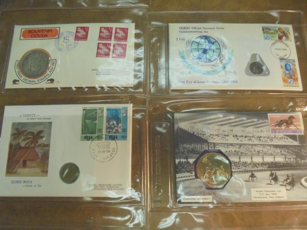 20 ASSORTED PNC 1ST DAY COVERS WITH COINS - 3