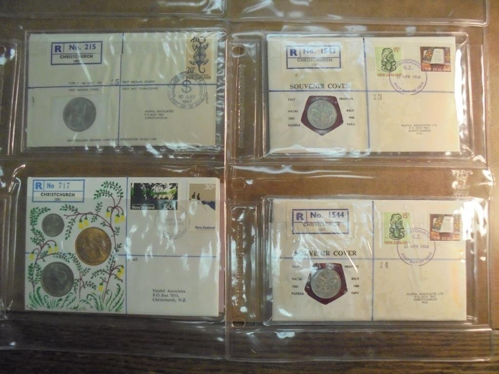 20 ASSORTED PNC 1ST DAY COVERS WITH COINS - 5