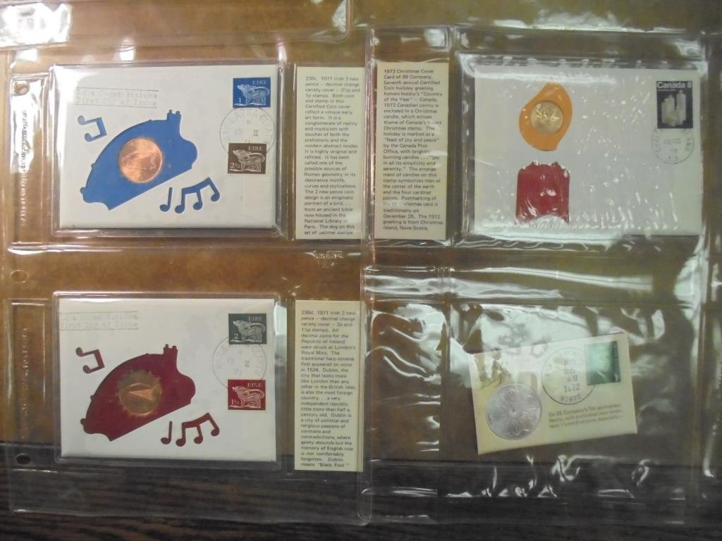 20 ASSORTED PNC 1ST DAY COVERS WITH COINS - 6