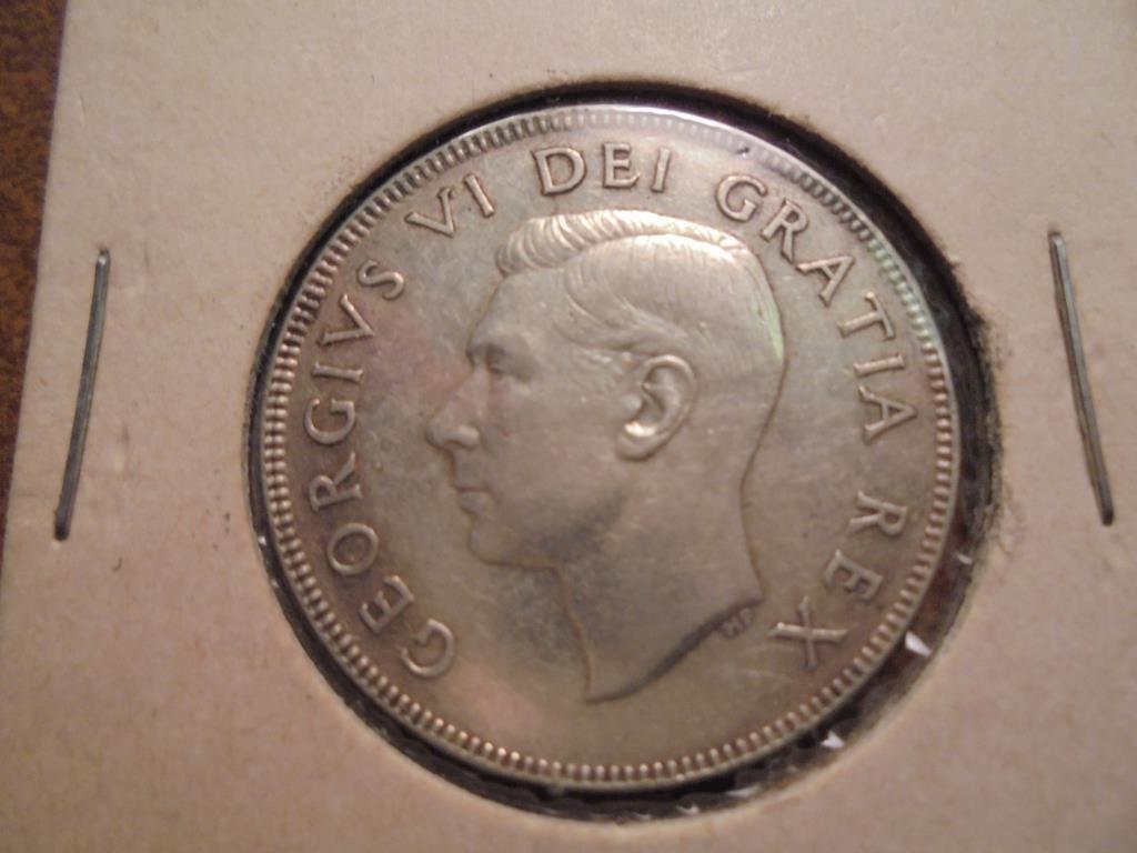 1952 CANADA SILVER 50 CENT - 2