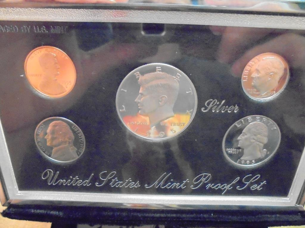 1995 US SILVER PREMIER PROOF SET (WITH BOX)