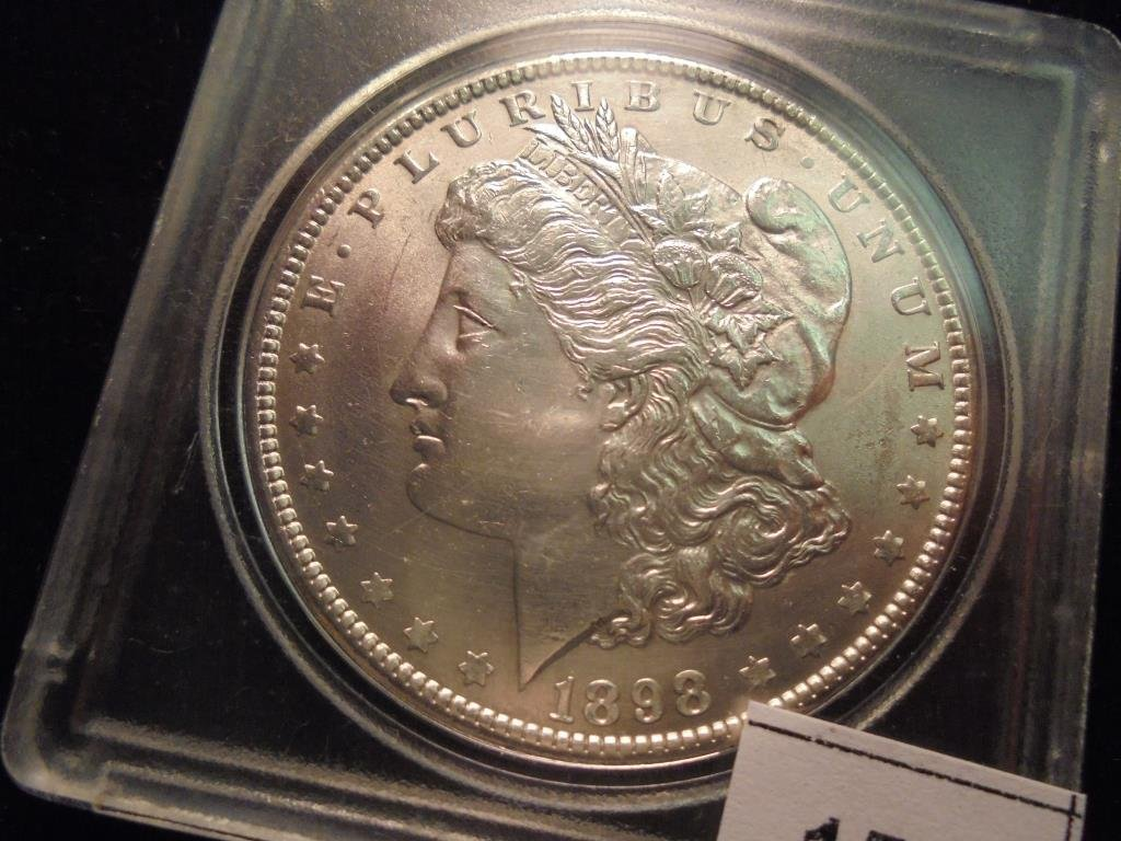 1898 MORGAN SILVER DOLLAR UNC