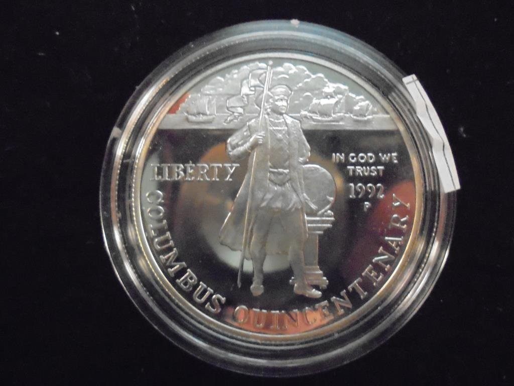 1992-P COLUMBUS QUINCENTENARY PF SILVER DOLLAR - 2