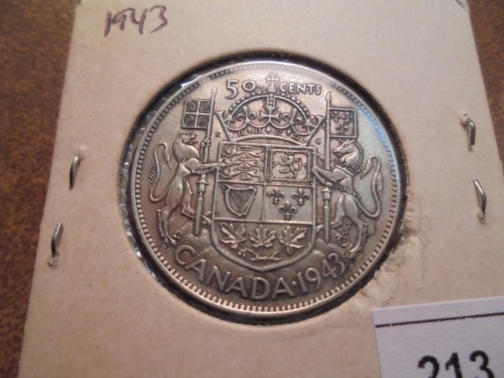 1943 CANADA SILVER 50 CENT