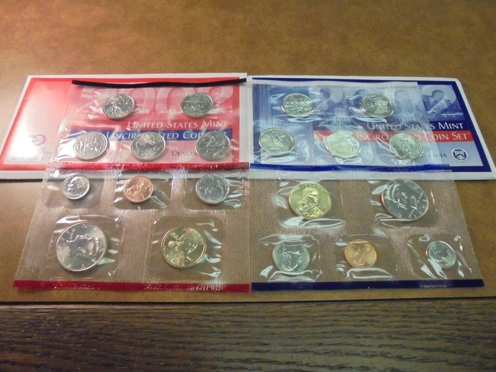 2002 US MINT SET (UNC) P/D (WITH ENVELOPE)