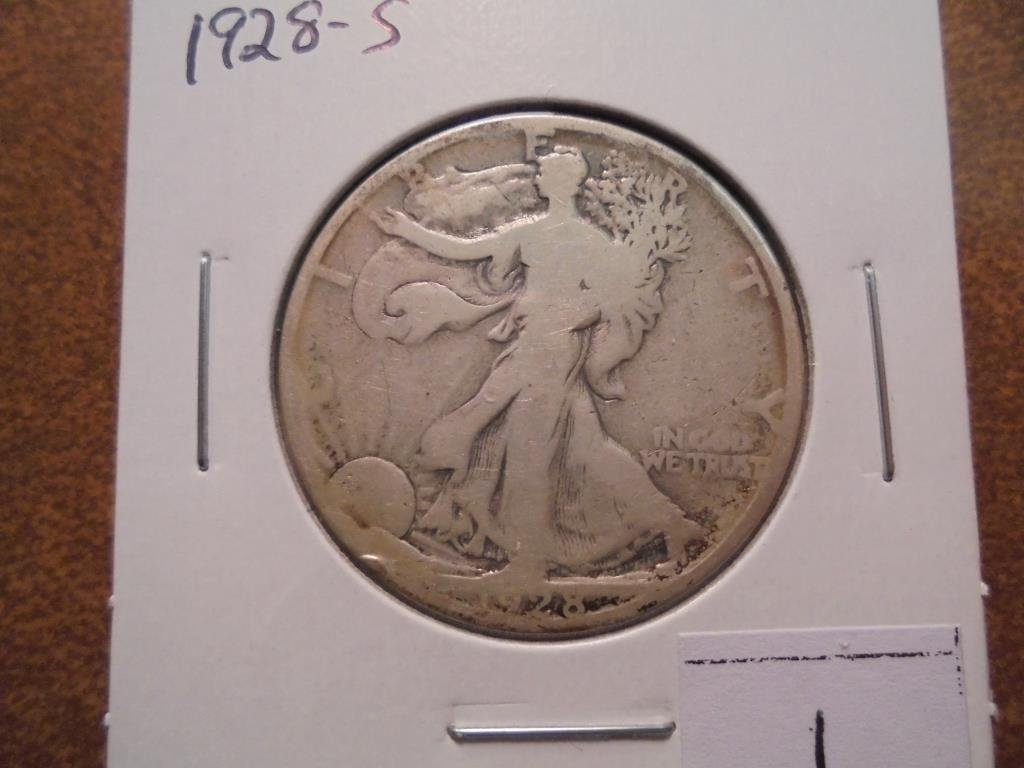 1928-S WALKING LIBERTY HALF DOLLAR