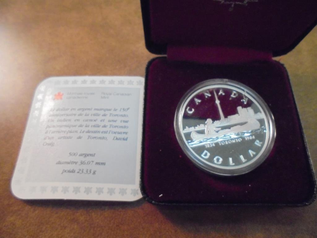 1984 CANADA TORONTO SILVER DOLLAR PROOF