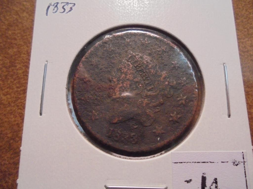 1833 US LARGE CENT