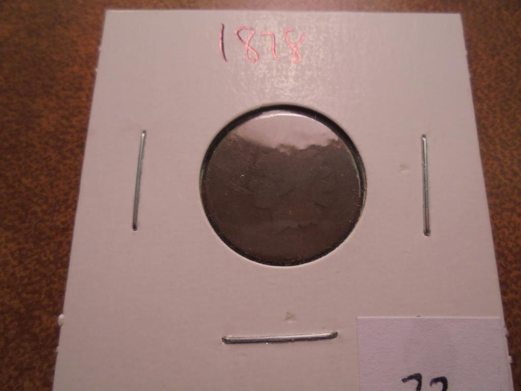 1878 INDIAN HEAD CENT (SEMI-KEY )