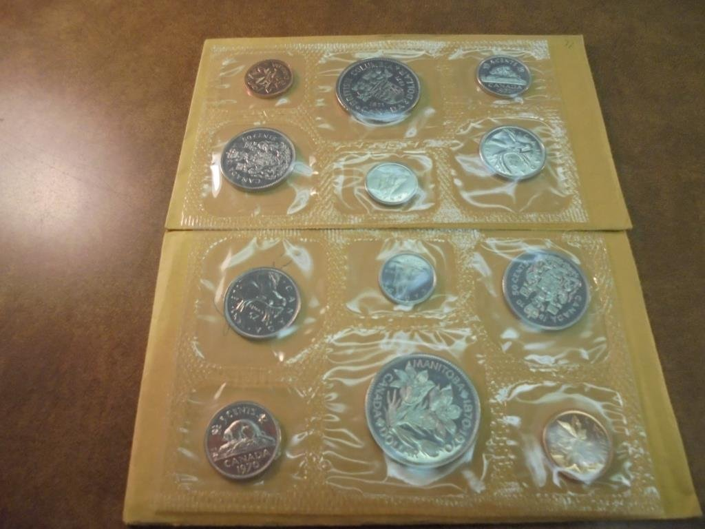 1970 & 1971 CANADA (PF LIKE) SETS WITH ENVELOPES