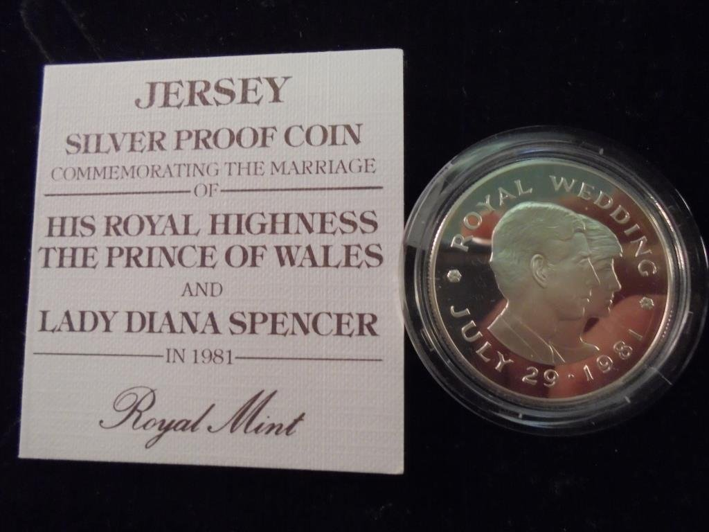 1981 BAILIWICK OF JERSEY SILVER PROOF 2 POUNDS