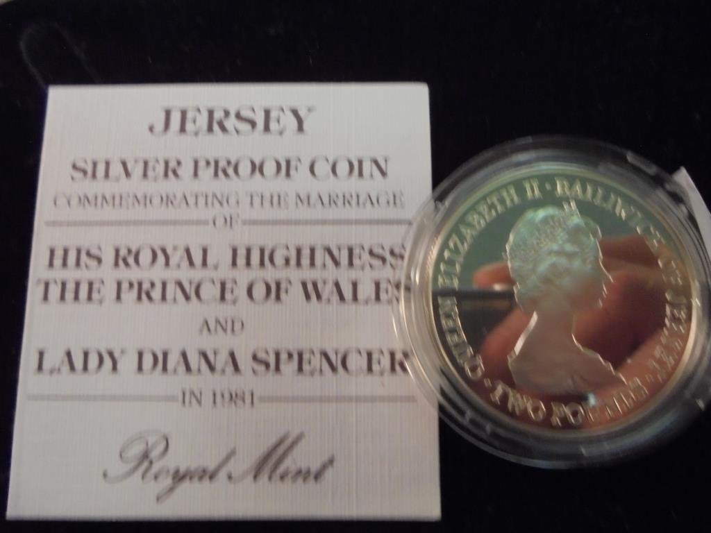 1981 BAILIWICK OF JERSEY SILVER PROOF 2 POUNDS - 2