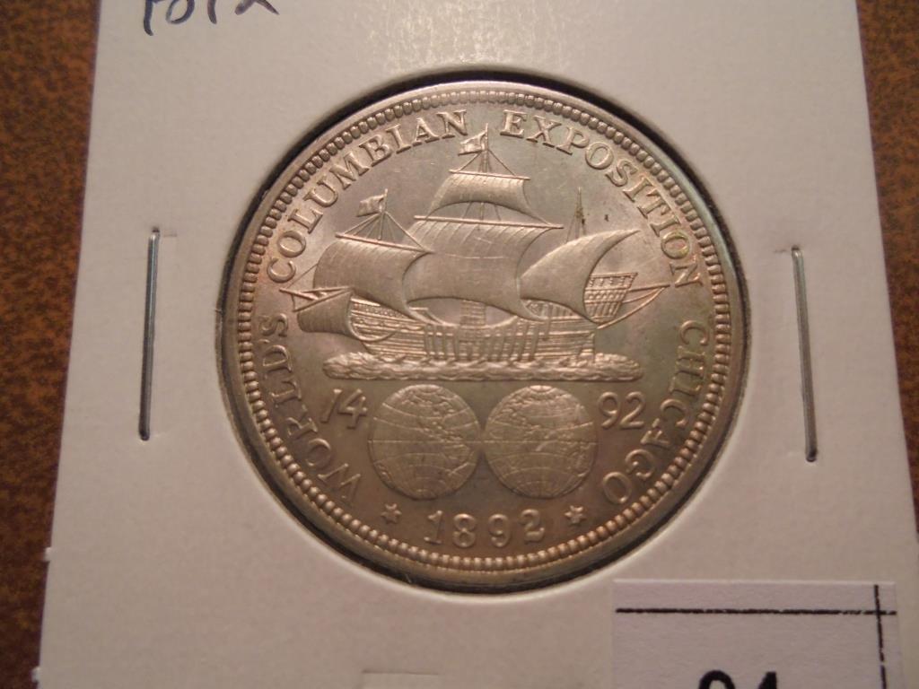 1892 COLUMBIAN EXPOSITION HALF DOLLAR UNC
