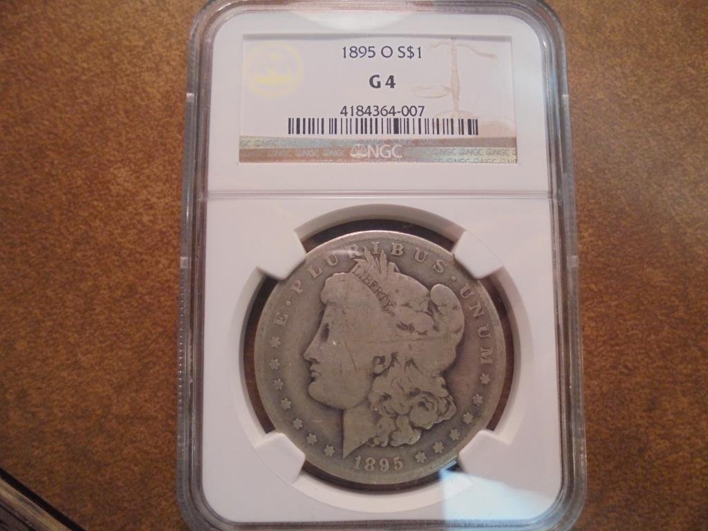 1895-O MORGAN SILVER DOLLAR BETTER DATE NGC G4