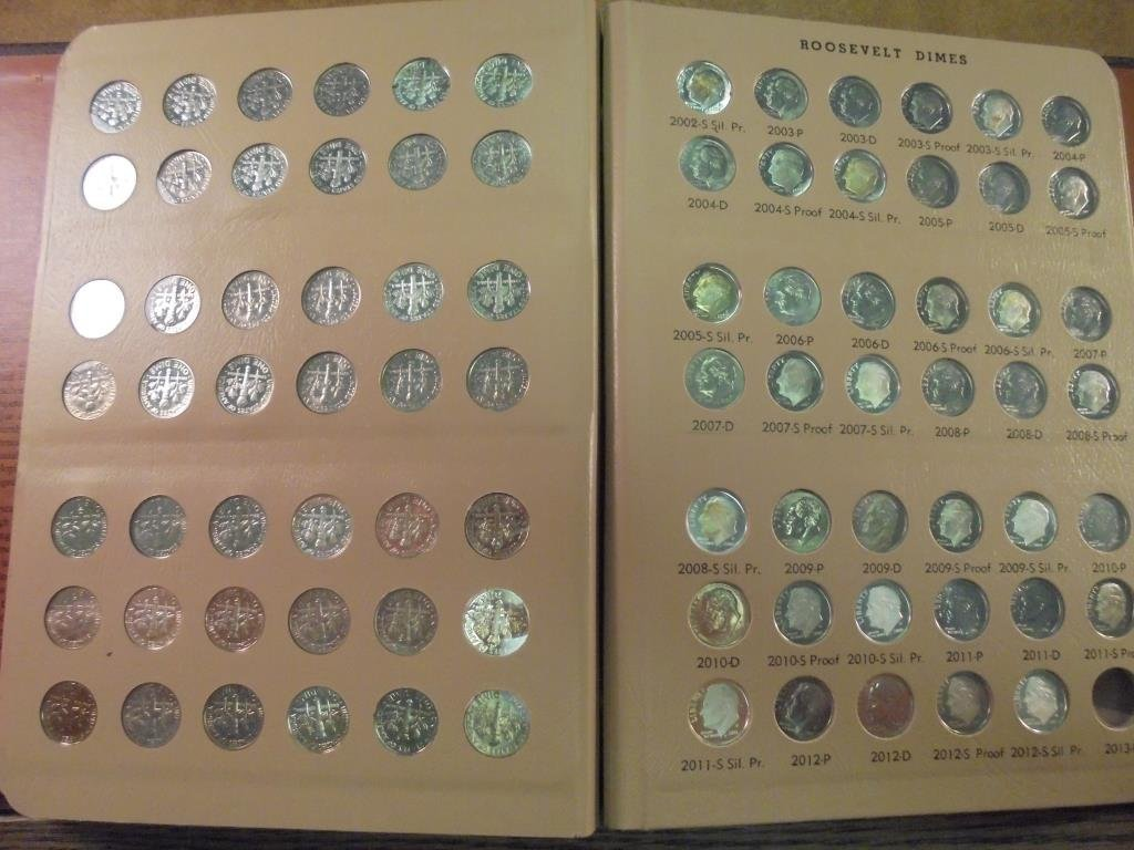 OUTSTANDING COMPLETE 1946-2015 ROOSEVELT DIME SET - 5