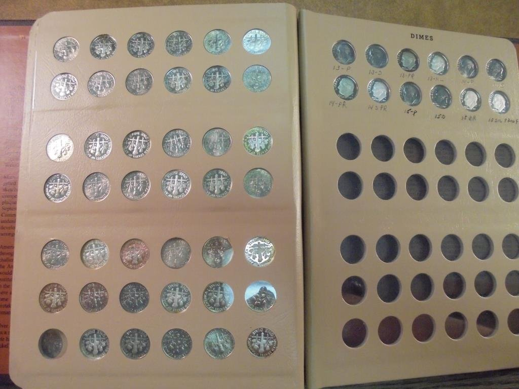 OUTSTANDING COMPLETE 1946-2015 ROOSEVELT DIME SET - 6