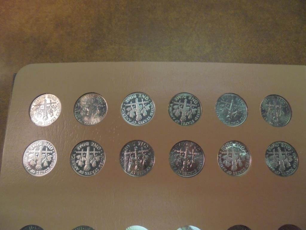 OUTSTANDING COMPLETE 1946-2015 ROOSEVELT DIME SET - 7